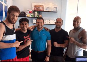 Dr Rich with Danilo Villefort and the Blackzilians